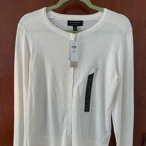 BR Factory White Cardigan - Brand New, Tags On!